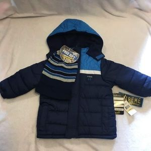 NWT ixtreme winter jacket with hat 2T